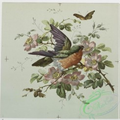 prang_cards_birds-00029 - 0184-Christmas, New Year, and birthday cards with decorative birds, flowers, and butterflies 103878