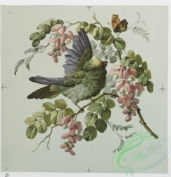 prang_cards_birds-00030 - 0184-Christmas, New Year, and birthday cards with decorative birds, flowers, and butterflies 103879