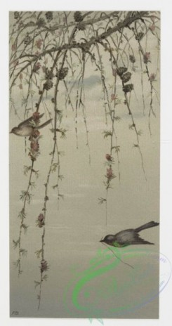 prang_cards_birds-00042 - 0210-Birthday cards depicting birds perched on tree branches 104062