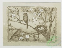 prang_cards_birds-00054 - 0215-Easter cards depicting nests, eggs, butterflies, birds, flowers, and plants 104100