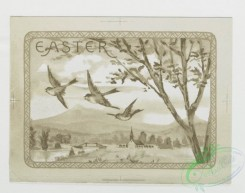 prang_cards_birds-00055 - 0215-Easter cards depicting nests, eggs, butterflies, birds, flowers, and plants 104101