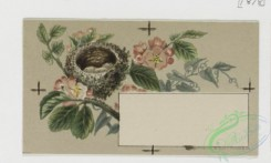 prang_cards_birds-00098 - 0316-Trade card for Florida Water perfume company, with depictions of flower, birds, and women brushing hair 104953