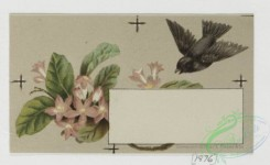 prang_cards_birds-00101 - 0316-Trade card for Florida Water perfume company, with depictions of flower, birds, and women brushing hair 104958