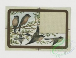 prang_cards_birds-00148 - 0456-Small cards depicting children in rural scenes-planting seeds, lamb, flowers, lamps, wells, stream 105960