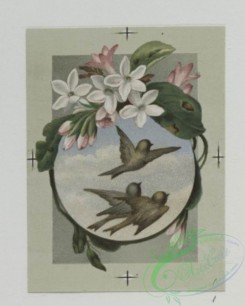 prang_cards_birds-00155 - 0492-Easter and birthday cards depicting birds and flowers, with landscapes 106216