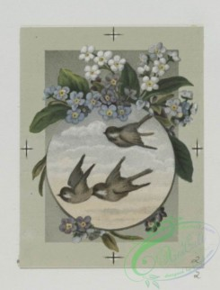 prang_cards_birds-00156 - 0492-Easter and birthday cards depicting birds and flowers, with landscapes 106217