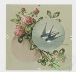 prang_cards_birds-00166 - 0572-Christmas and New Year cards with text, depicting a pencil, ink, paper, a sponge, birds and flowers 106703