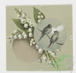 prang_cards_birds-00167 - 0572-Christmas and New Year cards with text, depicting a pencil, ink, paper, a sponge, birds and flowers 106704