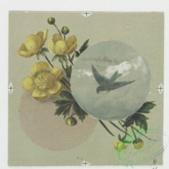 prang_cards_birds-00168 - 0572-Christmas and New Year cards with text, depicting a pencil, ink, paper, a sponge, birds and flowers 106705