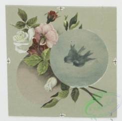 prang_cards_birds-00169 - 0572-Christmas and New Year cards with text, depicting a pencil, ink, paper, a sponge, birds and flowers 106706
