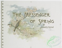 prang_cards_birds-00183 - 0881-(The messenger of spring-cards depicting pastures, sky, dogwoods and robins.) 108129