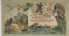 prang_cards_birds-00219 - 1650-Trade cards depicting children, flowers, ducklings, frogs, cats, hot air balloon, pond, teaching, sweeping and falling 102851