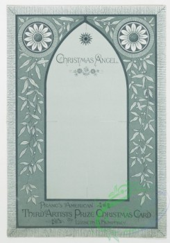 prang_cards_black-and-white-00012 - 0140-Christmas cards with angels, children singing, Christmas tree, and winter scenes 101690