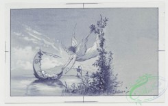 prang_cards_black-and-white-00017 - 0203-Birth announcements, birthday, Christmas and Easter cards depicting babies, angels, a stork, a cabbage patch, boats and fans 104001
