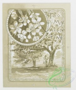 prang_cards_black-and-white-00022 - 0204-Valentines depicting flowers, butterflies, and landscapes 104015