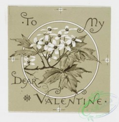 prang_cards_black-and-white-00027 - 0212-Valentines and Easter cards depicting birds, butterflies, and flowers 104078