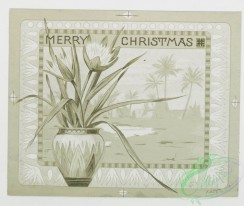 prang_cards_black-and-white-00033 - 0232-Christmas cards depicting Egyptians with Christ child, pyramids, star of David, palm trees, and plants 104190