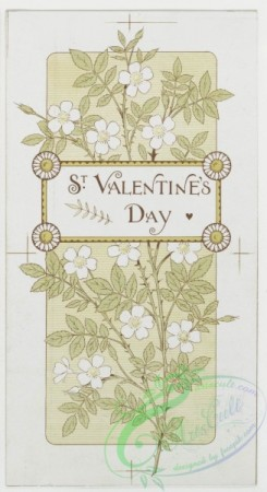 prang_cards_black-and-white-00037 - 0236-Birthday, Christmas, Easter and Valentine cards depicting flowers, a nest, a dove and a vase 104209