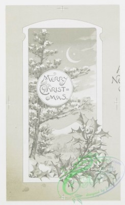prang_cards_black-and-white-00038 - 0238-Christmas and New Year cards depicting owls, cats, rabbits, pigs, ducks, painters' palates, and snow-covered landscapes 104220