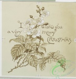 prang_cards_black-and-white-00041 - 0239-Christmas and New Year cards depicting animated men and women, flowers 104232
