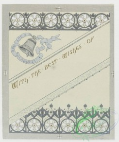 prang_cards_black-and-white-00048 - 0240-Wedding cards with decorative ornamentation, literary quotations, depicting white flowers, bells and hearts 104239