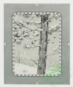 prang_cards_black-and-white-00070 - 0272-Birthday, Christmas and New Year cards depicting winter scenes, birds and flowers 104508