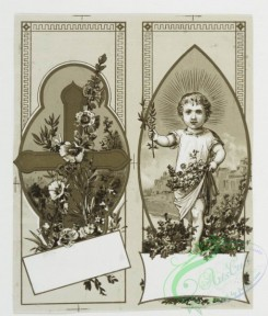 prang_cards_black-and-white-00078 - 0321-Christmas cards depicting holly, birds, flowers, crosses, and angels 105015