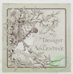 prang_cards_black-and-white-00083 - 0340-Christmas, New Year, Birthday, and Valentine cards depicting animals playing, and young girls with flowers 105163