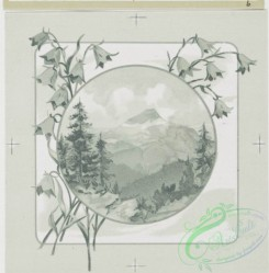 prang_cards_black-and-white-00097 - 0359-Birthday, Easter and Valentine cards depicting flowers and mountains 105265