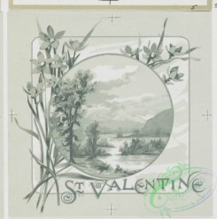 prang_cards_black-and-white-00098 - 0359-Birthday, Easter and Valentine cards depicting flowers and mountains 105266