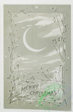prang_cards_black-and-white-00101 - 0361-Christmas cards depicting angels, stars, women, the moon and decorative designs 105285