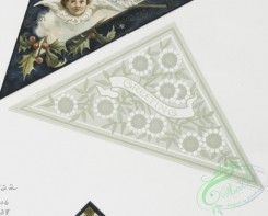 prang_cards_black-and-white-00105 - 0364-Christmas cards depicting angels, girls, a bird and decorative designs 105304