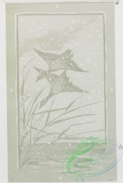 prang_cards_black-and-white-00113 - 0373-Christmas cards depicting winter scenes, spring, women and birds 105356