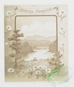 prang_cards_black-and-white-00124 - 0380-Birthday, Easter and Valentine cards depicting, rivers, flowers and plants 105401