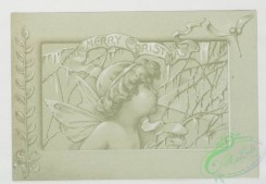 prang_cards_black-and-white-00134 - 0387-Christmas and New Year cards depicting winter scenes, tree branches, angels and decorative design 105456