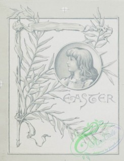 prang_cards_black-and-white-00140 - 0393-Easter and Christmas cards depicting people, flowers, knights on horses, hearts and decorative designs and patterns 105504