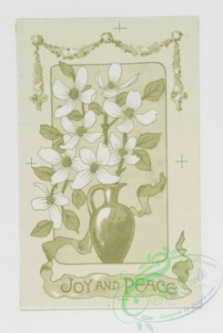 prang_cards_black-and-white-00149 - 0402-Easter cards depicting flowers, crosses, vases, angels, butterflies, children and rabbits 105549