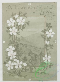 prang_cards_black-and-white-00172 - 0416-Valentines depicting children with love letters, angels, birds, and flowers 105659