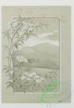 prang_cards_black-and-white-00176 - 0422-Easter cards and Valentines depicting young girls, and boy with flowers in fields 105712