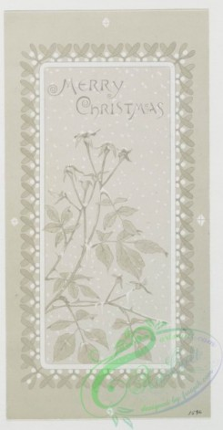 prang_cards_black-and-white-00203 - 0446-Birthday, Christmas, Easter and New Year cards depicting winter, beach and spring landscapes, as well as birds, shells, flowers, trees and butterflies 105883