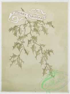 prang_cards_black-and-white-00205 - 0452-Christmas and Valentine cards depicting portraits of women and holly 105939