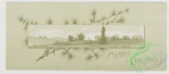prang_cards_black-and-white-00225 - 0472-Birthday, Christmas, Easter and New Year cards depicting landscapes, flowers, plants, and profiles of children 106079