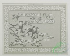 prang_cards_black-and-white-00237 - 0493-Easter cards depicting flowers, birds, and trees 106230