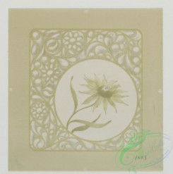 prang_cards_black-and-white-00262 - 0530-Birthday cards and Valentines depicting flowers 106467