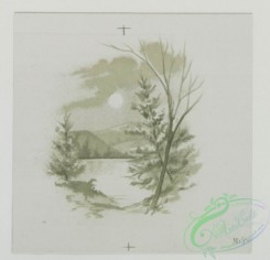 prang_cards_black-and-white-00270 - 0540-Easter, Christmas, and New Year cards depicting flowers, and landscapes 106530