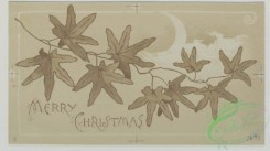 prang_cards_black-and-white-00272 - 0541-Christmas, New Year, and Easter cards depicting leaves, moons, landscapes, flowers, and butterflies 106532