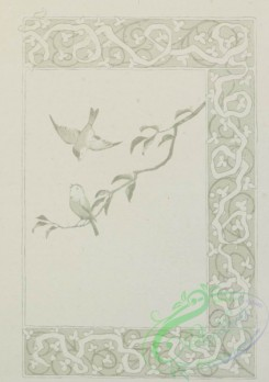 prang_cards_black-and-white-00289 - 0609-Easter cards depicting angels, a bell tower, flowers, butterflies, clovers, birds and decorative ornamentation 106934