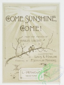 prang_cards_black-and-white-00294 - 0705-Come Sunshine, Come! 107399