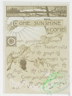 prang_cards_black-and-white-00295 - 0705-Come Sunshine, Come! 107400