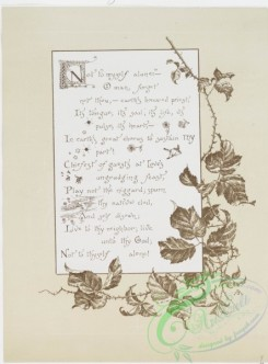 prang_cards_black-and-white-00324 - 0801-Not to Myself Alone - song lyrics with landscapes, stars, flowers, butterflies, vines, portrait of a woman 107763